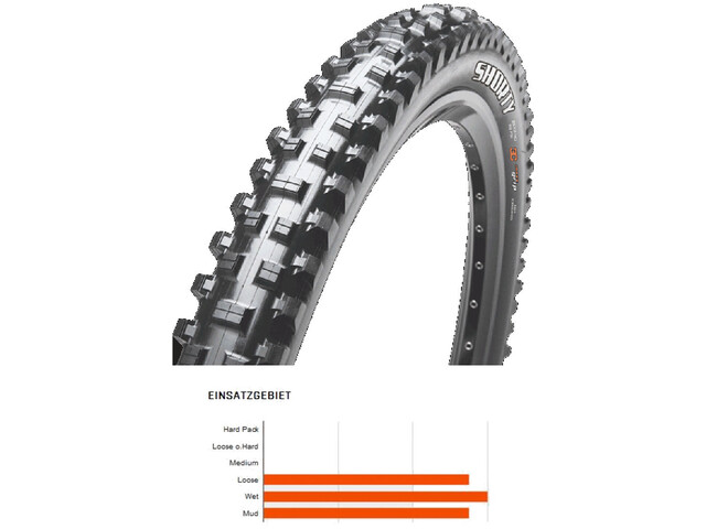 """Maxxis Shorty Tyre 27.5"""" DH 3C MaxxGrip wire"""